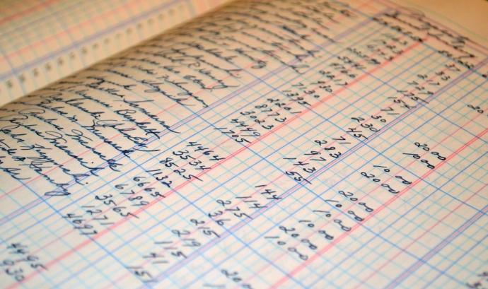 Llibre de comptes manual Font: Pixabay