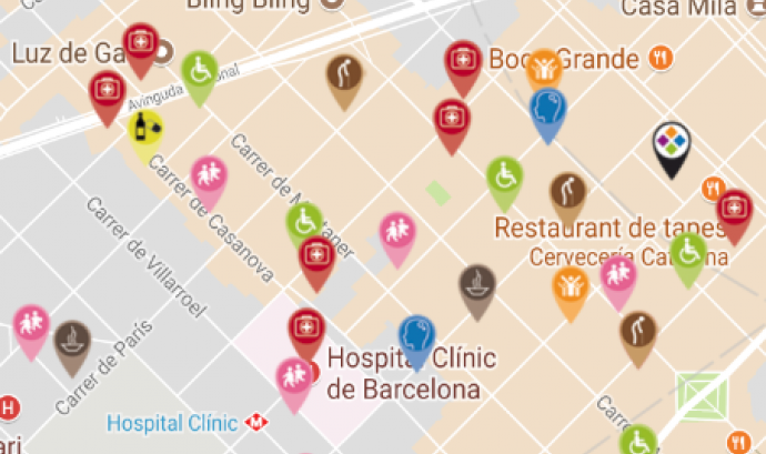Captura App Mapa entitats Catalunya Tercer Sector Font: Taula del Tercer Sector