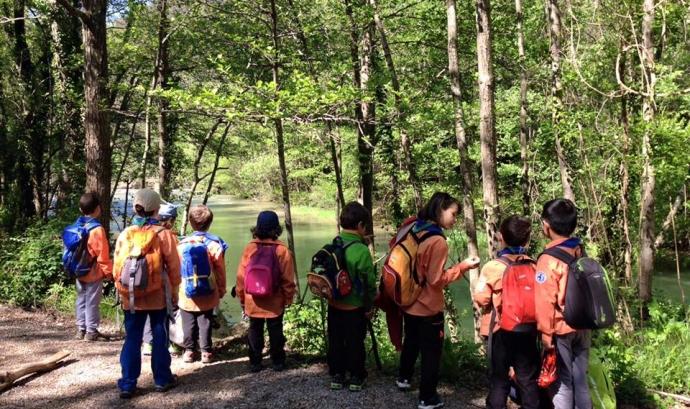MInyons Escoltes en ruta a la natura