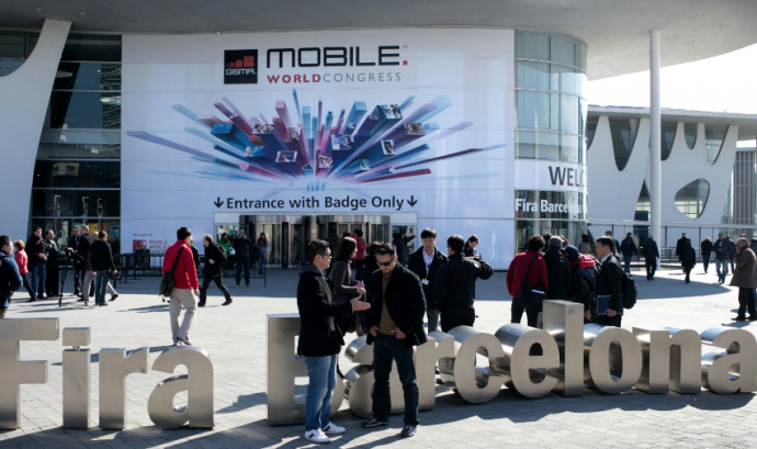 Entrada al Mobile World Congress.