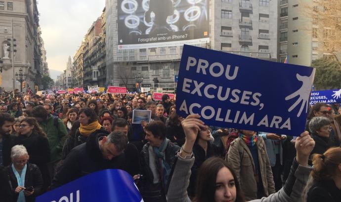 "Manifestació ""Volem acollir"" a Barcelona. Font: Wikipedia"