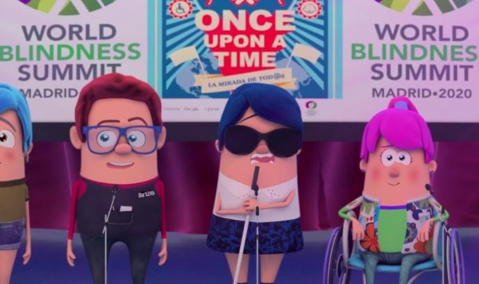 Imatge gràfica del vídeo promocional del 36è Concurs. Font: Concurs Escolar ONCE