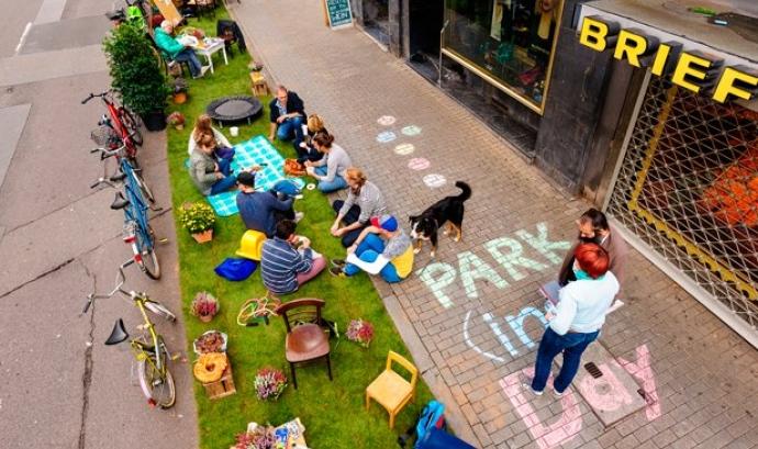 El Park(ing) Day se celebra a Barcelona el 21 de setembre