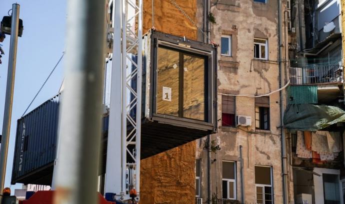 S'han començat a instal·lar els primers mòduls a Ciutat Vella. Font: Ajuntament de Barcelona