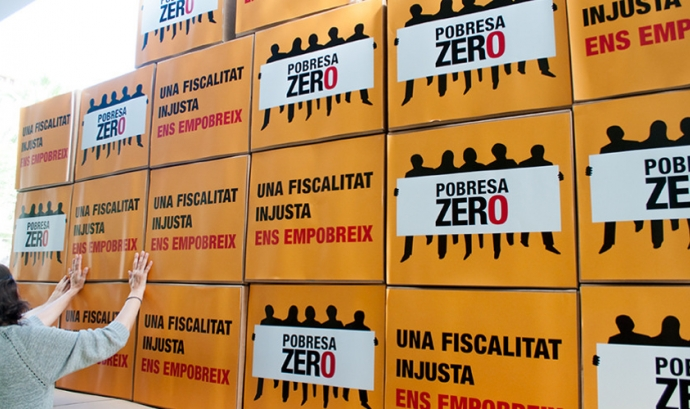 La fiscalitat justa és una de le lluites per aconseguir l'erradicació de la pobresa Font: Pobresa Zero