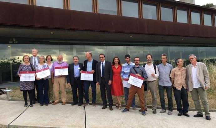 Acte de premiació dels Premis Medi Ambient 2017 Font: Departament de Territori i Sostenibilitat