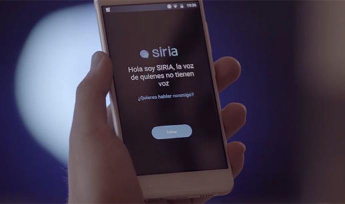 Siria app és un projecte per conscienciar sobre les desigualtats que pateixen certes persones.  Font: Siriapp
