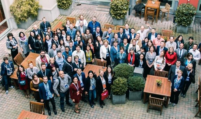 Foto de grup de la trobada anual d'ALL DIGITAL l'any 2016 (TEAC 2016)