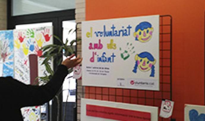 Exposició el voluntariat amb ulls d'infant Font: FCVS