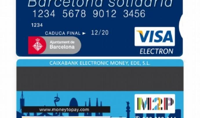 Targeta Barcelona Solidària- font_www.buendiario.com Font: