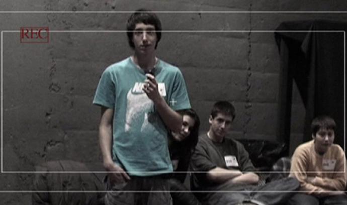 Joves del projecte BarriBook Tv d'Horta-Guinardó Font: