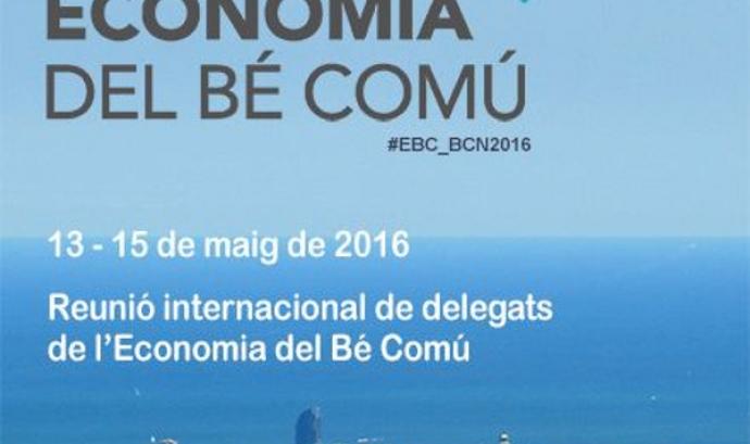 Cartell de la Reunió internacional de delegats de l'Economia del Bé Comú. Font: Economia del Bé Comú Catalunya