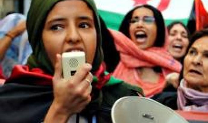 Joves activistes en una protesta a Palestina.