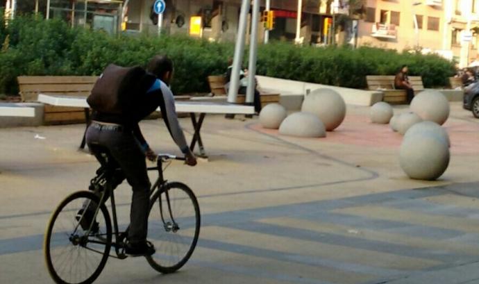 Bicicleta a Barcelona (Imatge:XVAC) Font: