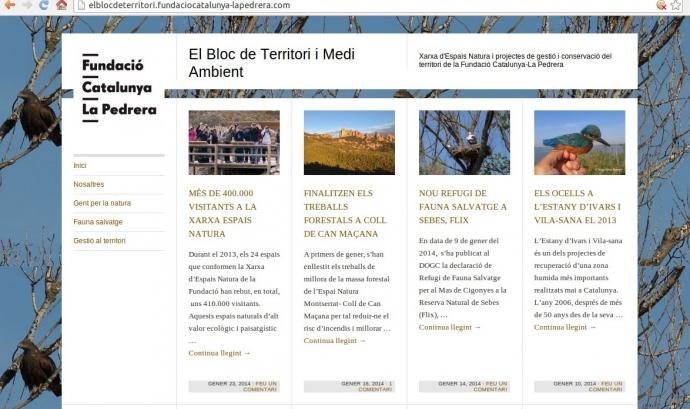 Portada de elblocdeterritori.fundaciocatalunya-lapedrera.com Font: