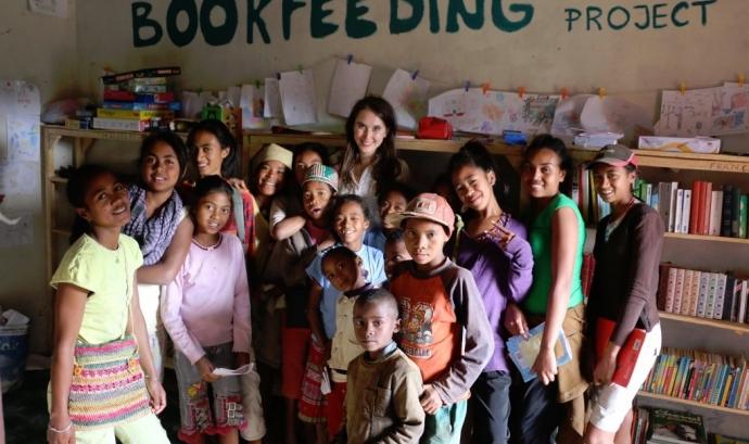 Una de les biblioteques de Bookfeeding Project Font: