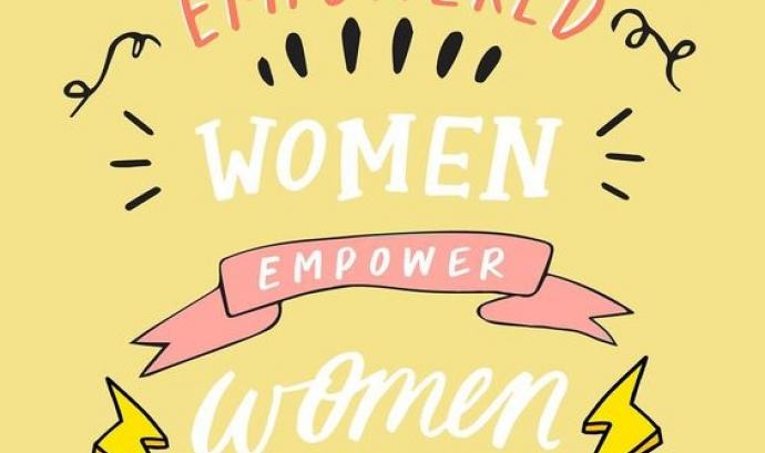 'Les dones empoderades empoderen dones', frase extreta de les xarxes socials. Font: Pinterest (BritAndCo)