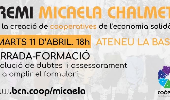 Xerrada formativa sobre el Premi Micaela Chalmeta. Font: Twitter de Coòpolis