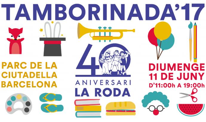 Cartell de la 40a edició de la Tamborinada Font: Fundació La Roda