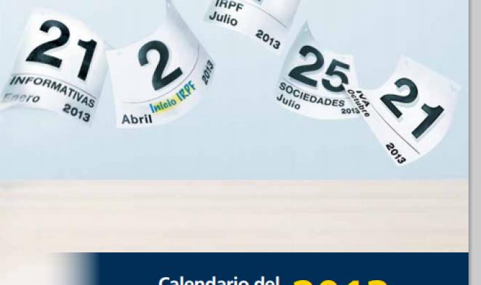 Imatge portada del calendari del contribuent 2013 Font: