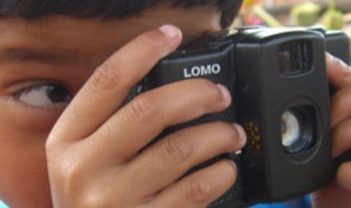 Capçalera del lloc web del projecte Càmeres del món Font: