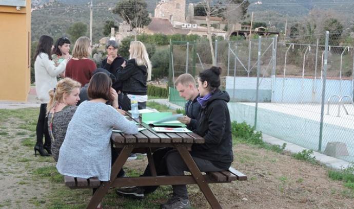Participants d'un camp d'estudi internacional