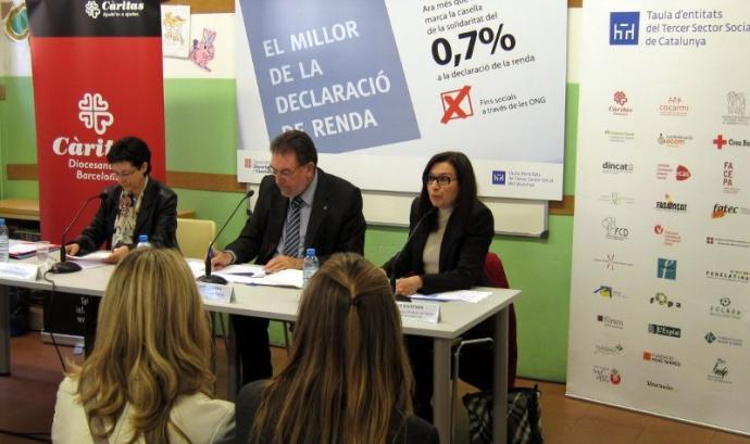 Presentació de la campanya. Foto: Taula del Tercer Sector Font: