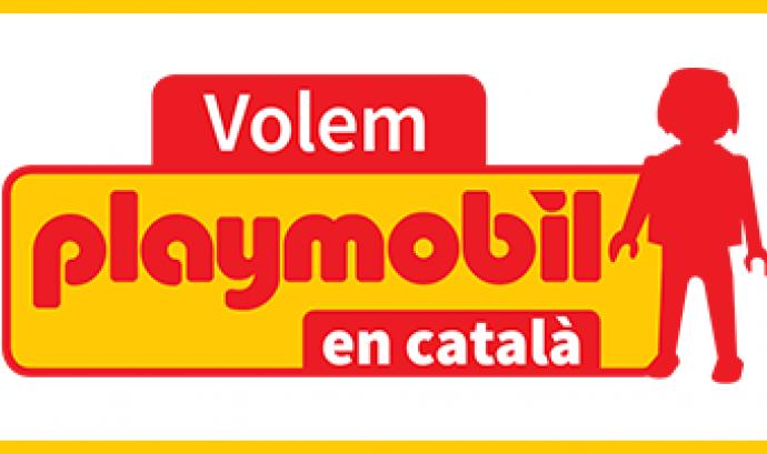 L'entitat exigeix a Playmobil que etiqueti en català. Font: Plataforma Per la Llengua Font: