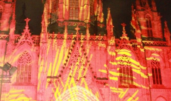 Espectacle 'La cultura és nostra' a la Catedral de Barcelona