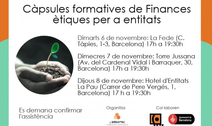 Càpsules formatives de finances ètiques per a entitats