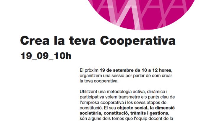 Cartell de l'acte 'Crea la teva cooperativa'