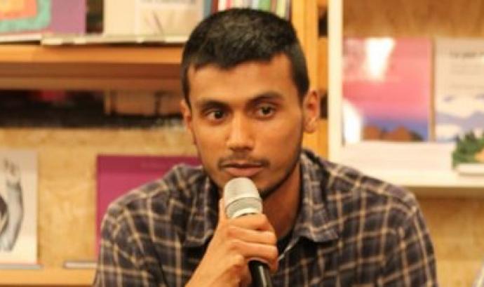 Zeshan Muhammad explicant la seva història  Font: SOS Racisme