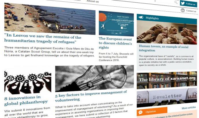 Captura de pantalla de nonprofit.xarxanet.org