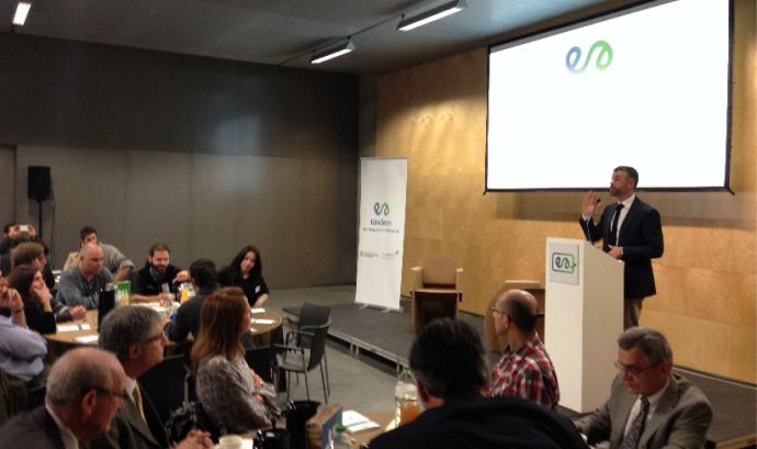 El conseller de Territori i Sostenibilitat, Santi Vila, al Tàndem de Girona Font: