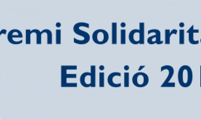 S'obre la candidatura pel Premi Solidaritat 2014 Font: