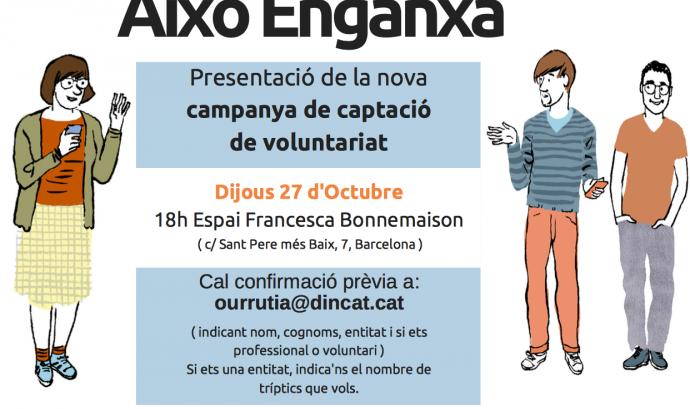 Flyer de la campanya de captació de voluntariat 2016.  Font: