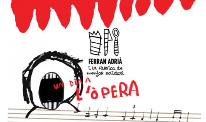 """Ferran Adrià engega la """"Fàbrica de menjar solidari: un dia a l'òpera"""" al Liceu Font:"""