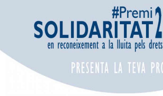 L'Institut de Drets Humans de Catalunya convoca el Premi Solidaritat 2016 Font: