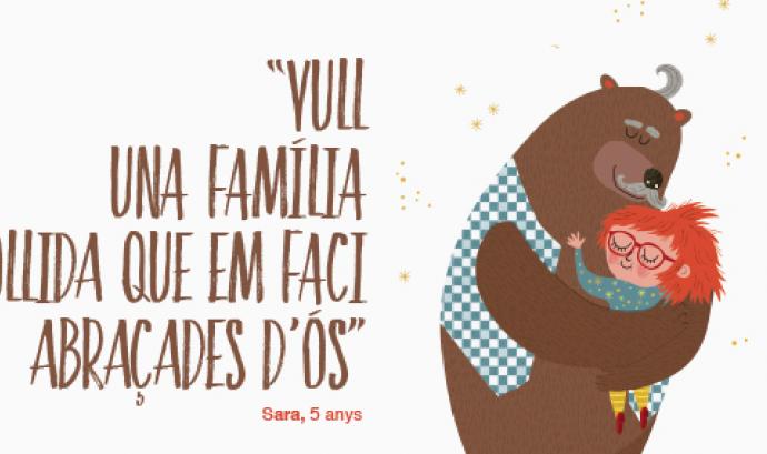 """""""Tu pots ser la família que està esperant"""", una campanya per trobar famílies d'acollida a menors de fins a 6 anys Font:"""