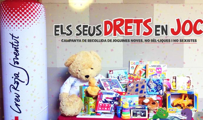 Creu Roja Joventut vol aconseguir joguines per a més de 25.000 infants en situació de vulnerabilitat Font: