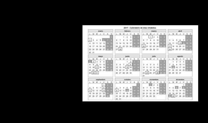 El calendari complet es pot consultar al Butlletí Oficial de l'Estat. Font: BOE Font: