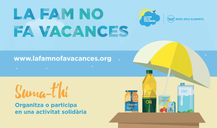 Cartell de la 'La fam no fa vacances'.