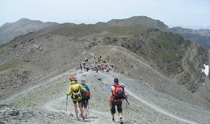 Imatge d'una travessa per Vallter. Font: Club Excursionista Caldes de Malavella