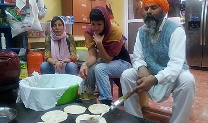 Langar sikh a Barcelona. Font: Comunitat Sikh de Catalunya