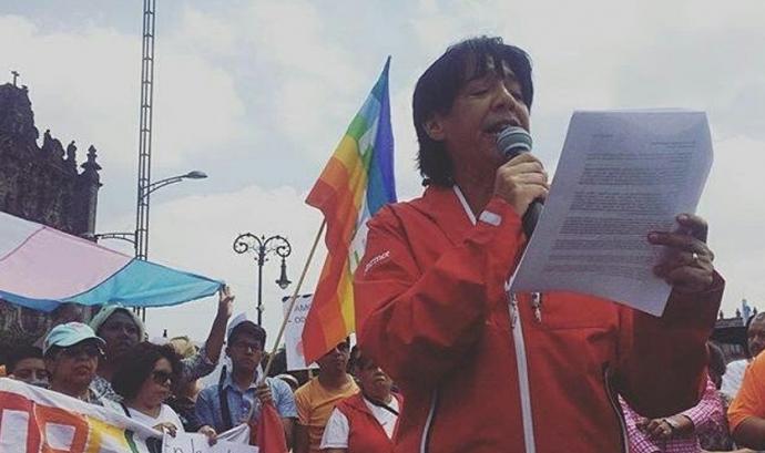 Pàtria Jimenez, activista LGTBI a Mèxic des de la seva joventut. Font: Pinterest