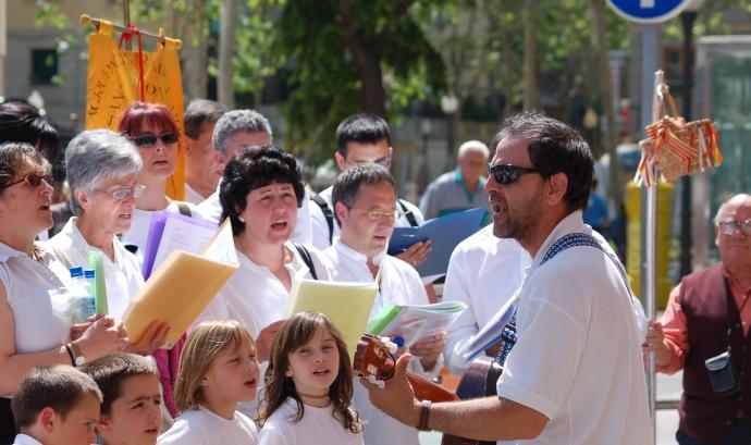 Les corals es desplaçaran pel barri oferint les seves cançons Font: