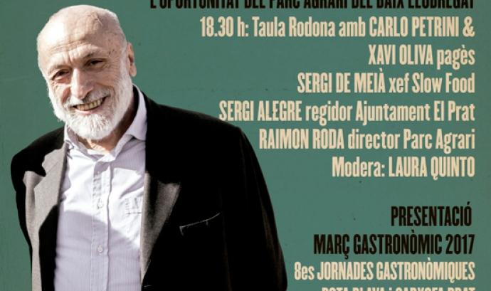Conferència de Carlo Petrini a El Prat divendres 10 de febrer (imatge:Agtbaix.cat)
