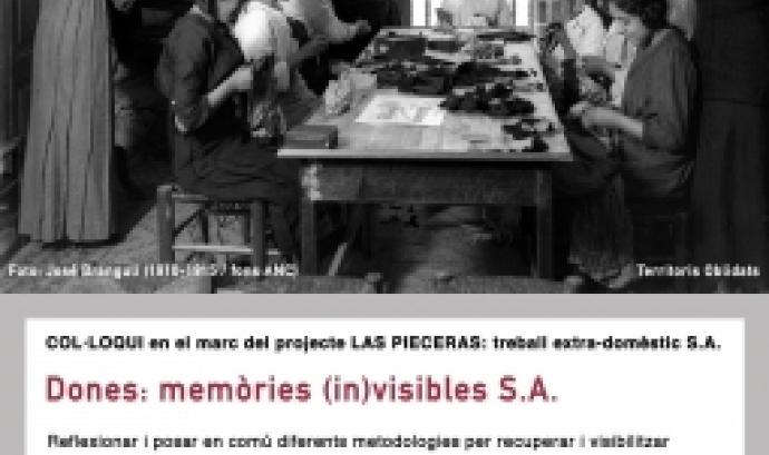 """Cartell del col·loqui """"Dones: memòries (in)visibles S.A."""""""