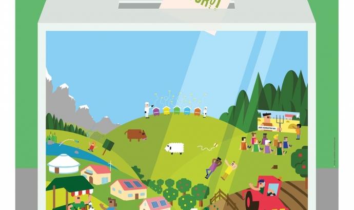 Cartell de la Setmana sense pesticides / Foto: Ecologistes en Acció Font: