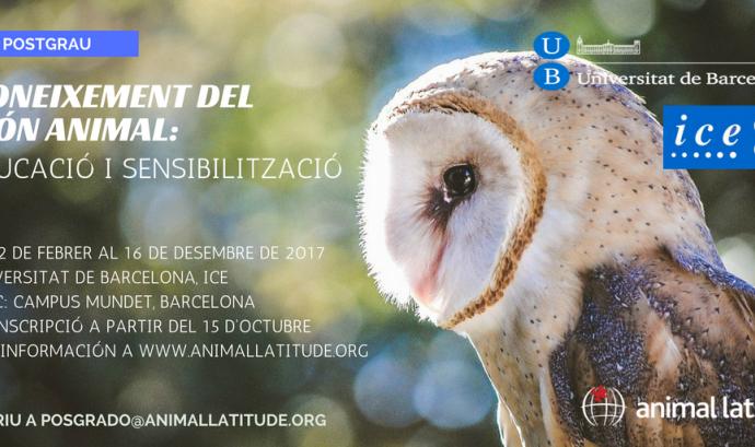 Nou Postgrau sobre Coneixement del Món Animal: educació i sensibilització